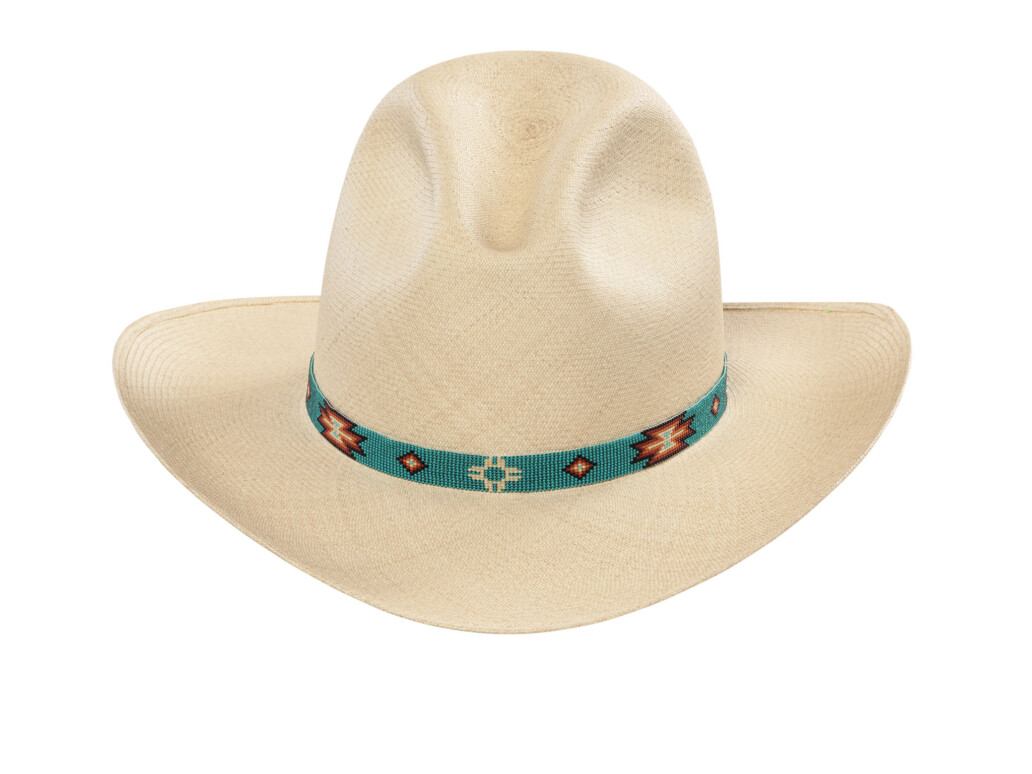 Low Gus Panama Hat with beaded hat band