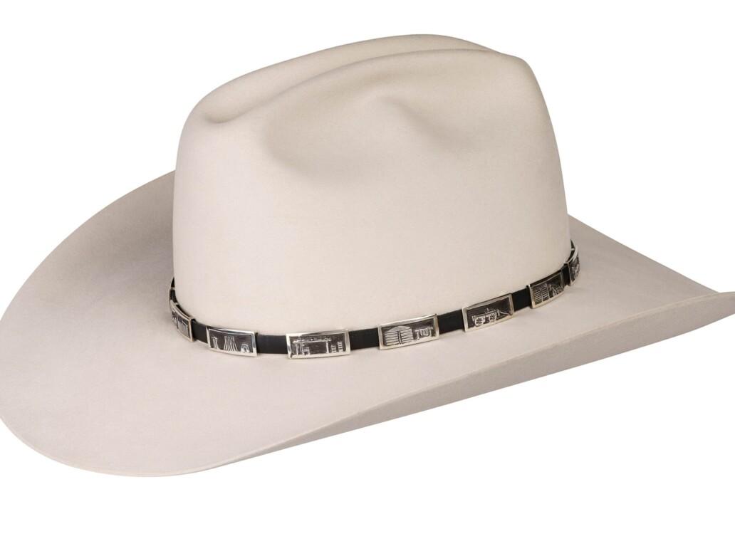 Tabaha Sterling on Leather Storyteller Hat Band